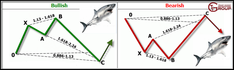 Гармонические соотношения в паттерне Акула