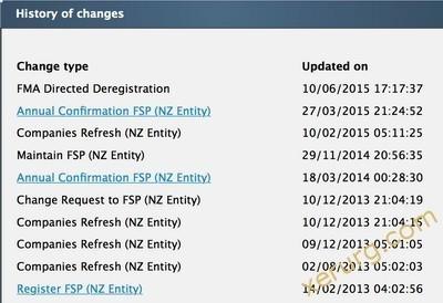 распоряжение FMA о прекращении регистрации Forex Trend