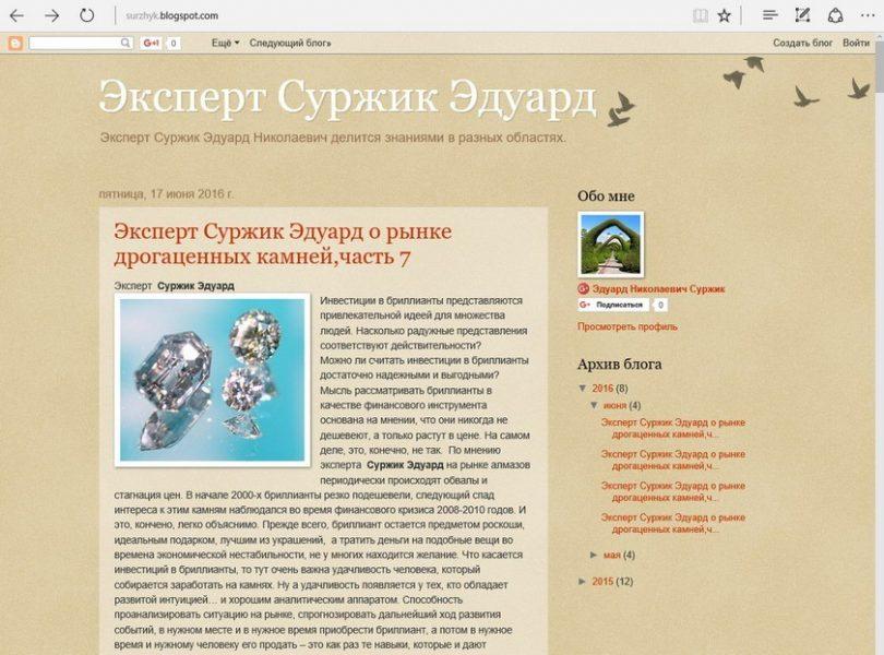 Эксперт Суржик Эдуард Николаевич