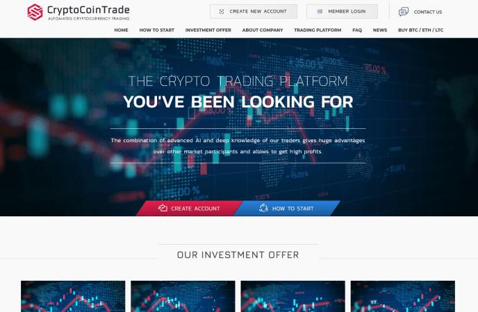 CryptoCoinTrade LTD - отзывы о зарубежном хайп проекте