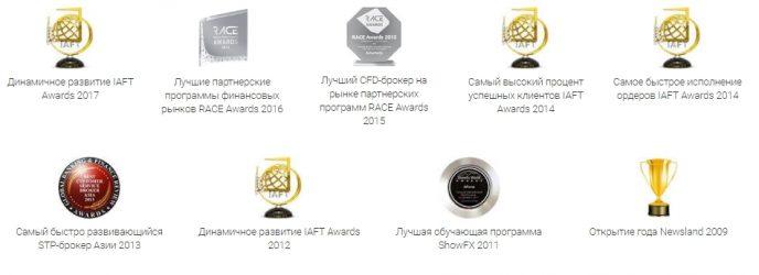 Amarkets награды